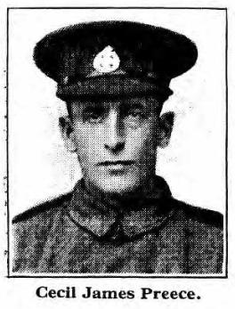 Cecil James Preece was born at Norton on 4th January, 1882. He was the son of Robert Preece, an estate labourer, and his wife Betsy. In 1901, aged 19, ... - CJPreece